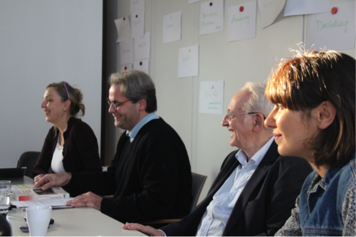 Left to right: Cornelia Müller, Michael Wedel, Naum Kleiman, Elena Vogman